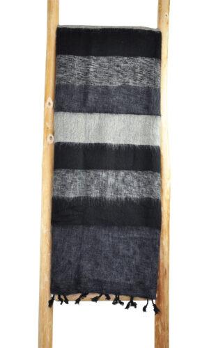 Nepal Decke schwarz weiß