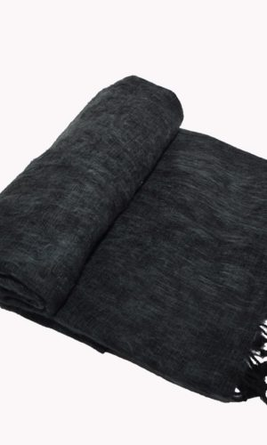 Nepal Couchdecke Anthrazitgrau | fair-trade | www.Shawls4you.de