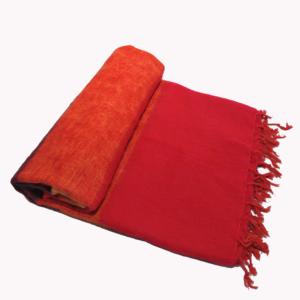 Nepal Decke Rose Rot Orange aus yakwolle - Online Kaufen - Shawls4you.de