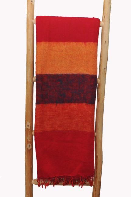 Nepal Decke Rose Rot Orange  aus yakwolle – Online Kaufen – Shawls4you.de