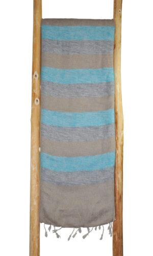 Nepal Blanket, Blau, Grau aus yak wolle