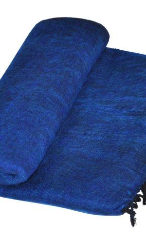 Nepal Decke dunkel blau