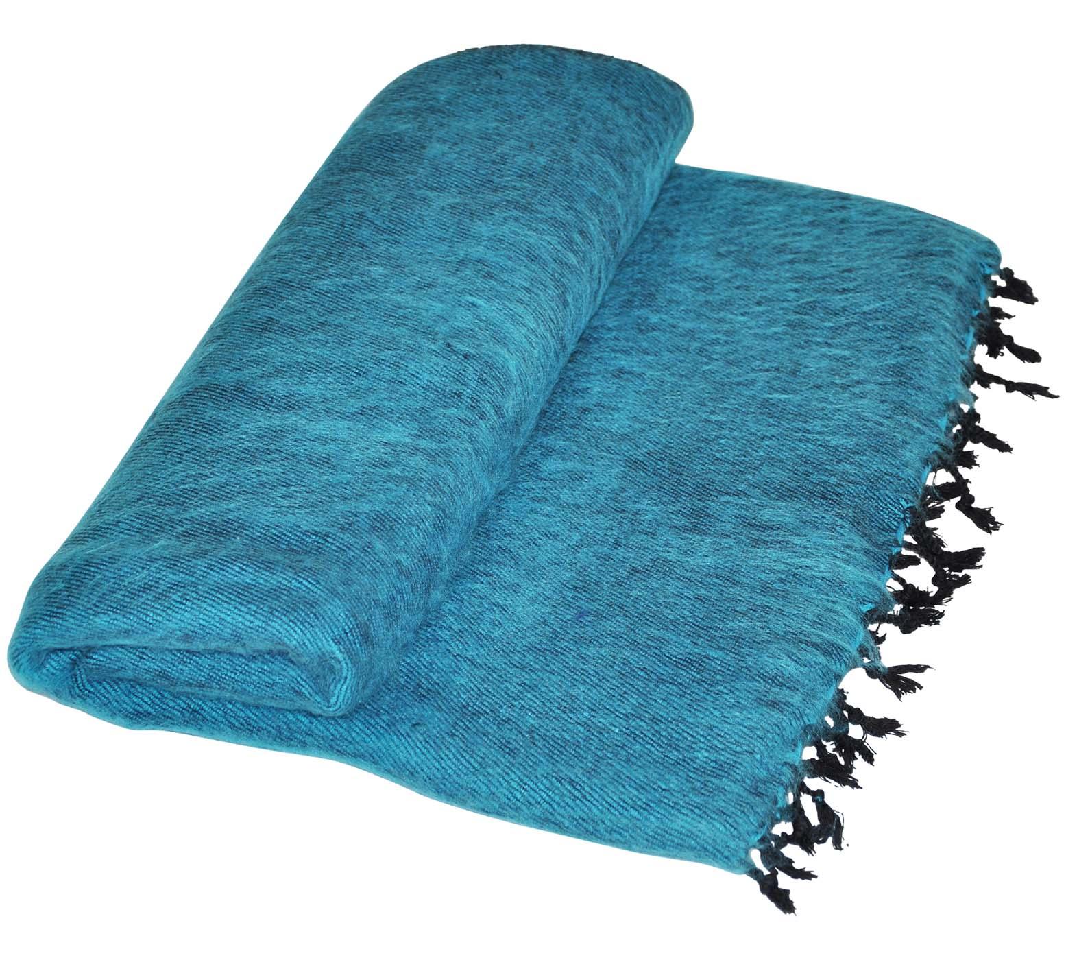nepal decke hellblau aus yak wolle online kaufen. Black Bedroom Furniture Sets. Home Design Ideas