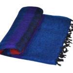 Nepal Rot, blau Decke aus yak-wolle