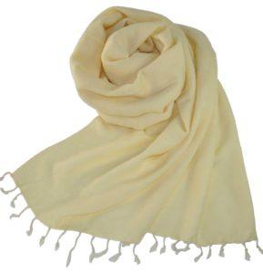 Stola Creme Weiß aus Nepal - Online Kaufen - shawls4you.de