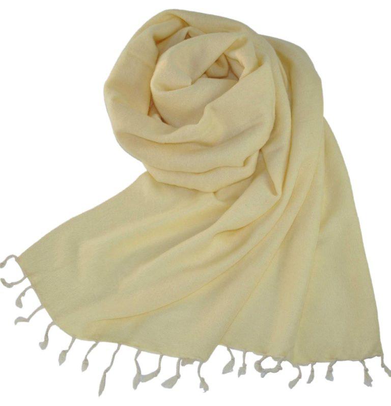 Stola Creme Weiß aus Nepal – Online Kaufen – shawls4you.de