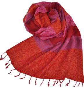 Nepal Schal Orange Rosa | fair-trade | Online Kaufen | Shawls4you.de