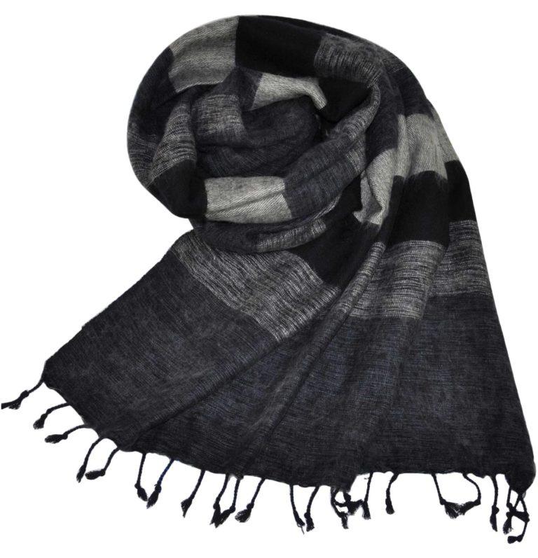 Yak Tücher schwarz grau aus Nepal – online Kaufen – shawls4you.de