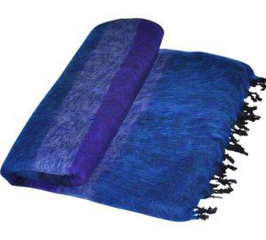 Yak Wolldecke Blaue gestreift aus Nepal - Online Kaufen - Shawls4you.de