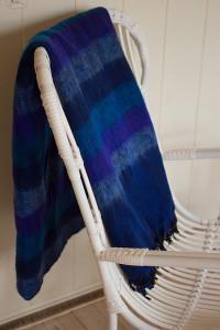 Yak Wolldecke Blaue gestreift