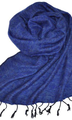 Nepal Schal Jeansblau | fair-trade | Online Kaufen | www.Shawls4you.de