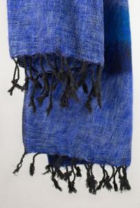 Yak Wolle Tücher Blau