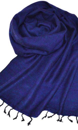 Yakwolle Tücher Blau Violett
