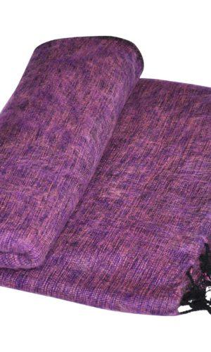Nepal Plaid violett aus yakwolle - Online Kaufen - Shawls4you.de