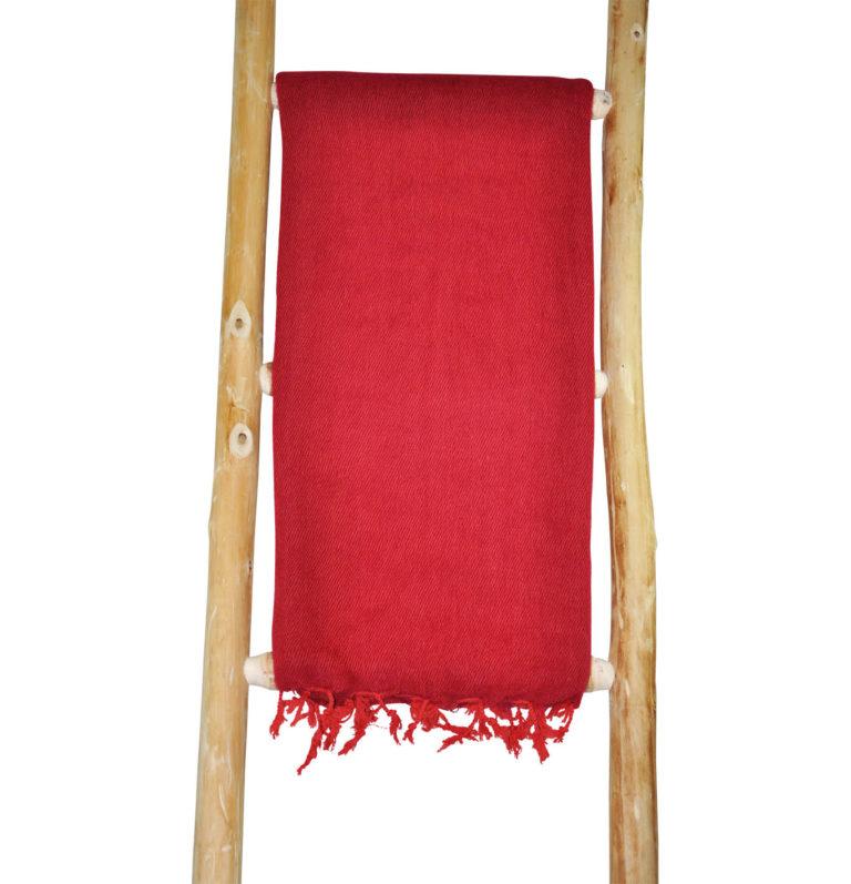 Nepal Schal Dunkelrot aus yakwolle – shawls4you.de