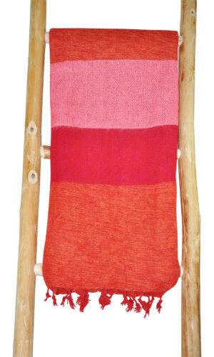 Nepal Schal rot rosa Zebra - online bestellen -Shawls4you.de