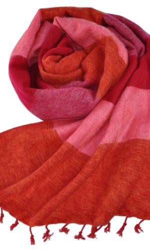 Nepal Schal rot rosa Zebra - online bestellen -Shawls4you.nl