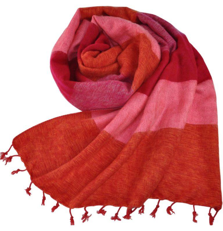 Nepal Schal rot rosa Zebra – online bestellen -Shawls4you.nl