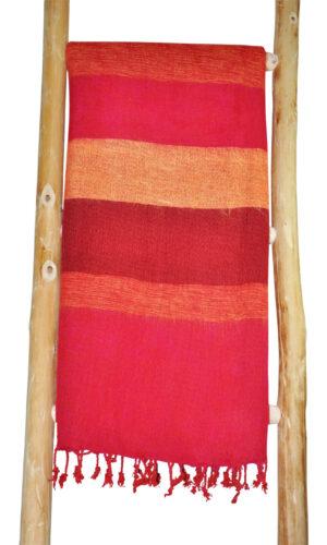 Nepal rote gestreifte Schal - Online Kaufen - shawls4you