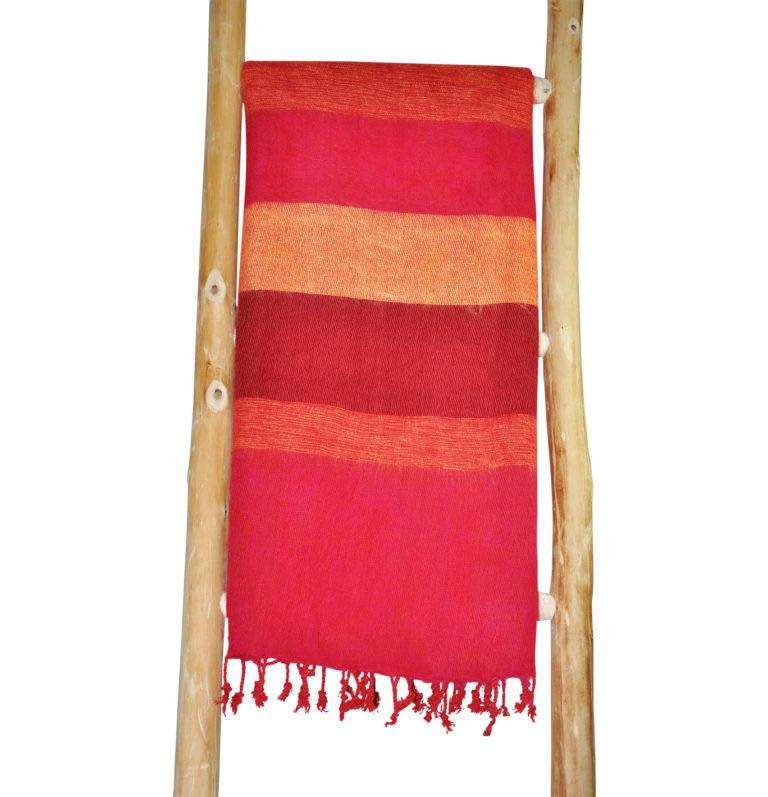 Nepal rote gestreifte Schal – Online Kaufen – shawls4you