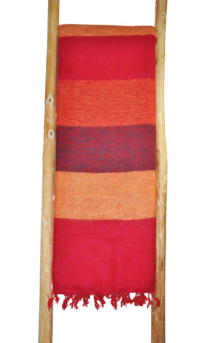 Tibet Plaid Rot Striped- online kaufen - Shawls4you.de