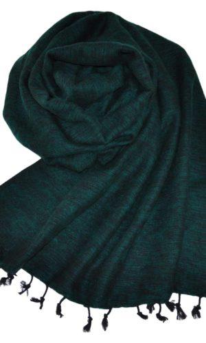 Nepal Schal Smaragdgrün | fair-trade | Online Kaufen | Shawls4you.de