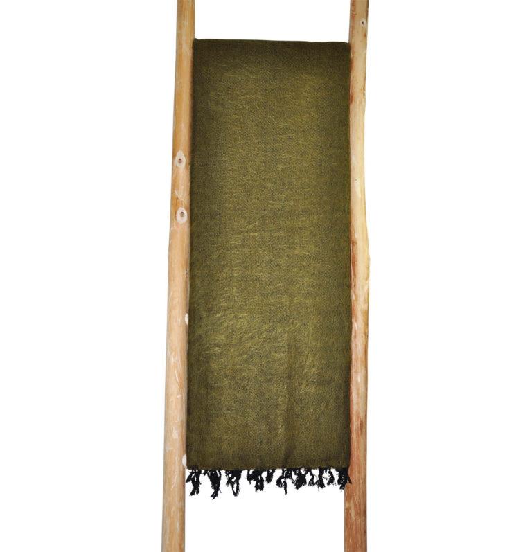 Yak Decke Grun Gelb Nepal – Online Kaufen – Shawls4you.de