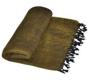 Yak Decke Grun Gelb Nepal - Online Kaufen - Shawls4you.de
