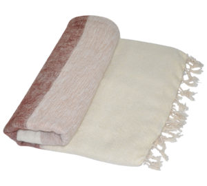 Nepal decke Creme Gestreift | fair-trade | Online Kaufen | Shawls4you.de