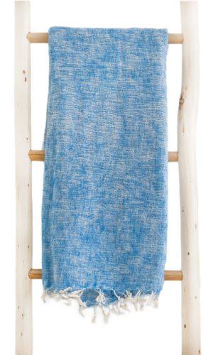 Nepal Decke Hellblau aus yakwolle - Online Kaufen - Shawls4you.nl
