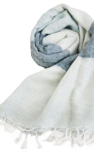 Nepal Tücher Grau-Schwarz-Creme online kaufen -Shawls4you
