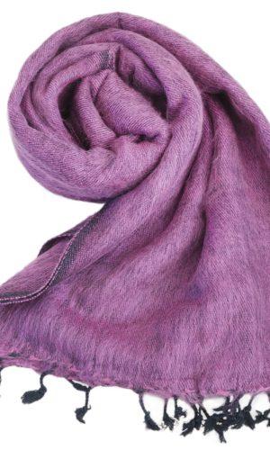 Nepal Decke Aubergine aus yakwolle - Online Kaufen - Shawls4you.nl