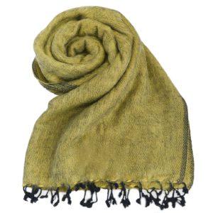 Nepal Decke ockergelb aus yakwolle - Online Kaufen - Shawls4you.nl