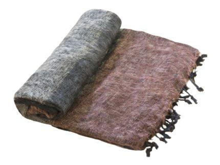 Nepal Decke schwarz-grau-braun aus yakwolle – Online Kaufen – Shawls4you.de
