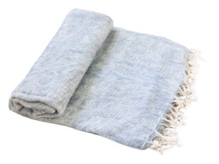 Nepal Decke Hellgrau aus yakwolle – Online Kaufen – Shawls4you.nl