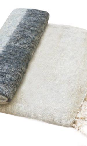 Nepal Decke Grau Swarz Creme Gestreift aus yakwolle - Online Kaufen - Shawls4you.de
