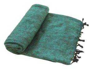 Nepal Decke Dunkelgrün aus yakwolle - Online Kaufen - Shawls4you.de