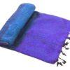 Nepal Decke Blau Lila gestreift aus yakwolle - Online Kaufen - Shawls4you.de