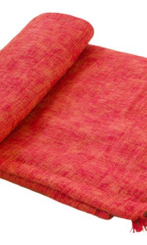 Nepal Decke Orange aus yakwolle - Online Kaufen - Shawls4you.de