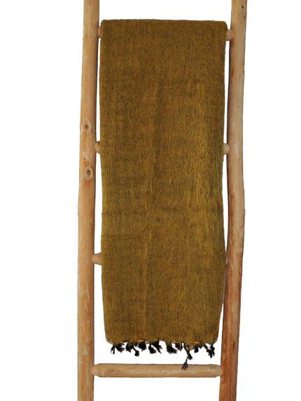 Nepal Decke Ockergelb aus yakwolle – Online Kaufen – Shawls4you.de