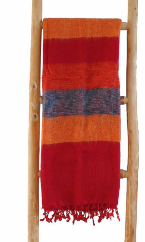 Nepal Schal Blau Orange Rot - online kaufen -Shawls4you.de