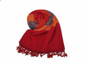 Nepal Schal Blau Orange Rot - online kaufen -Shawls4you.de