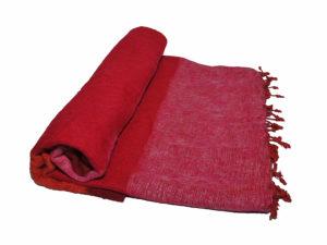 Nepal Decke Orange Rot Rose aus yakwolle - Online Kaufen - Shawls4you.de