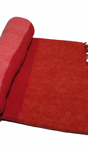Nepal Decke Rose Rot Orange aus yakwolle - Online Kaufen - Shawls4you.de