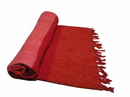 Nepal Decke Rose Rot Orange  aus yakwolle – Online Kaufen – Shawls4you.de