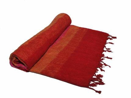 Nepal Decke geld Orange Rot aus yakwolle – Online Kaufen – Shawls4you.de