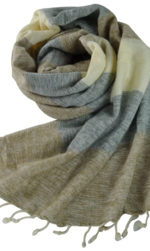 Schal Beige Creme Grau | fair-trade | Online Kaufen |Shawls4you.de