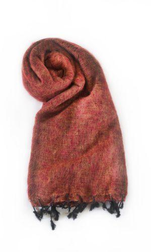 Nepal Schal Brique aus yakwolle - Online Kaufen - Shawls4you.nl