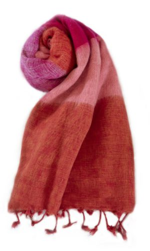 Nepal Schal Orange Rose aus yakwolle - Online Kaufen - Shawls4you.nl