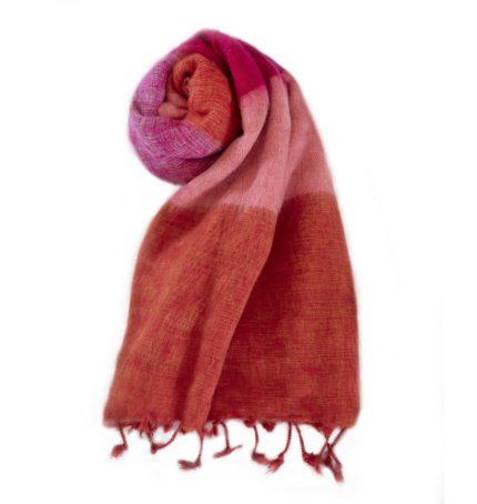 Nepal Schal Orange Rose aus yakwolle – Online Kaufen – Shawls4you.nl